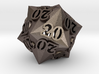 Faceted All 20's version - Novelty D20 gaming dice 3d printed