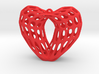Bohemian Dome Heart Earring (001) 3d printed