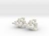 Cubic Knot Earrings 3d printed