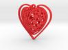Voronoi Heart + Heart Earring (003) 3d printed