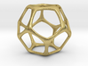 Dodecahedron Pendant - Platonic Solids 3d printed