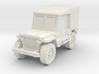 Jeep Willys closed 1/72 3d printed