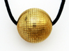 Disco Ball 3d printed Polished Brass