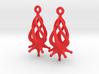 Twirldrop3 Earrings 3d printed