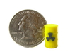 Radioactive Barrel, Yellow 3d printed Photo of barrel next to US quarter for sizing.