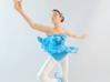 Ballerina 3d printed This is an example of the finished piece hand painted and inserted into a wood base.