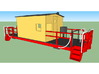 HO A&S Modern Transfer Caboose 1981 3d printed A SketchUp rendering of the model.
