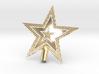"Star Glistening Tree Topper - 10cm 4""  3d printed"