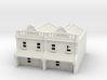 N Scale Terrace House 2 Storey (Double) 1:160 3d printed