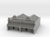 N Scale Terrace House 1 Storey (Double) 1:160 3d printed