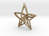 Twisted Star Necklace 3d printed