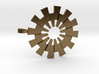 Pendant - 3D Printed Sun in Fine Metals 3d printed