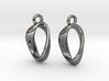 Mobius 1 Sided Die Earrings 3d printed