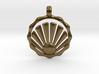 SHELL Symbol Minimal Jewelry Pendant 3d printed
