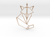 Woodland Animal Minimal Geometric Fox Necklace Pen 3d printed