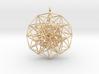 6D Cube Toroidal form - 50x1mm - 64 vertex pendant 3d printed