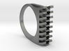 Tri-Fold Edge Ring - US Ring Size 07 3d printed Raw Silver Rendering