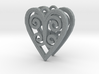 Ace Earrings - Hearts 3d printed