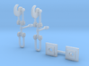OO Scale Screw Link Couplings and Bases 3d printed