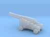 1/87  Scale 32 Pounder M1845 on Naval Carriage 3d printed