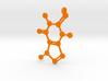 Caffeine molecule charm 3d printed