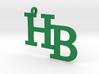 HB charm - Go Bobcats! 3d printed