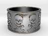 12 Skull and crossbones Ring Size 7.5 3d printed
