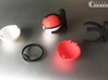 Small pokeball - Ring - 1:1 scale 3d printed