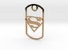Superman dog tag 3d printed