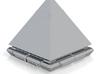 1/2500 SG Goa'uld Ra Pyramid Ship 2 (repaired2) xx 3d printed