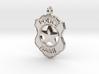 Police Badge Pet Tag / Pendant / Key Fob 3d printed