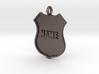 Police Shield Pet Tag / Key Fob 3d printed