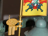 Castle Grayskull Flagpole Antenna 3d printed Painted and assembled prototype, printed in White Strong & Flexible Polished