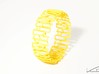 Modern patterned bracelet 3d printed Yellow Strong & Flexible
