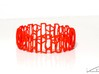 Modern patterned bracelet 3d printed Red Strong & Flexible