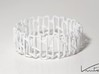 Modern patterned bracelet 3d printed White Strong & Flexible