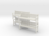 Park Bench x 4 - 4mm Scale 3d printed