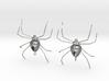 Spider Earrings 3d printed