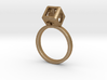 JEWELRY Ring size 6.5 (17mm) with HyperCube stone 3d printed