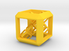 SCULPTURE Cube (30 mm) with 3d-Cross inside 3d printed