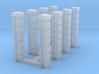 Rod Iron Fence - Splice Columns 3d printed Part # RIF-008