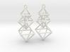 Dangling Octahedra Earrings 3d printed