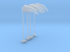 Airport Windsock and Pole (x4) 1/144 3d printed