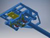 Canadian Pacific Portager Intermodal Car (Phase I) 3d printed colored render shows position of components