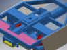 Canadian Pacific Portager Intermodal Car (Phase I) 3d printed end view showing end platform and how the side skirts attach to the mounting pads