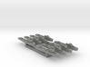 8pk Fairmile C motor gun boat WW2 MJPlas 1:2400 3d printed