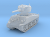 M4A3 Sherman 75mm 1/200 3d printed