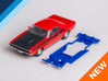 1/32 Scalextric Dodge Challenger Chassis AW pod 3d printed Chassis compatible with Scalextric Dodge Challenger body (not included)