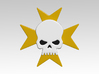 Skull & Cross 2 Vehicle Icons x32 3d printed Product is sold unpainted.