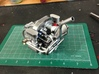 FA10002 Engine Exhaust for Tamiya Wild One, FAV 3d printed Exhaust painted and fitted to a Tamiya Wild One Gearbox, engine part sold separately.
